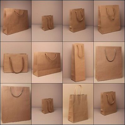 Brown Gift Bag Kraft Paper Cord Handle Wholesale Bulk Craft Party Occasion Shop