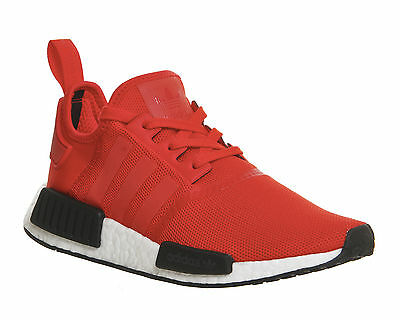 Mens Adidas Nmd Runner RED WHITE BLACK Trainers Shoes