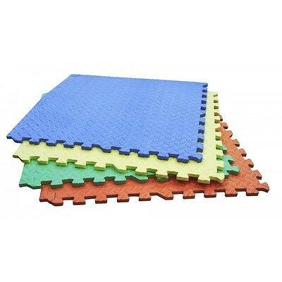 Rolson 60821 4 Pc Interlocking EVA Floor Mats 1210 x 1210 x 11mm Yoga Nursery