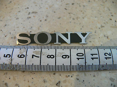 Genuine Sony Badge Logo –home audio speakers.silver on black 53mm