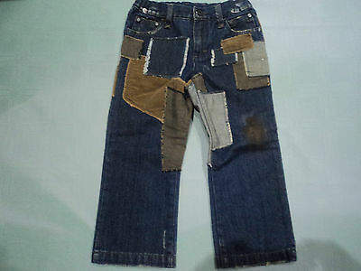 Dolce&Gabbana Designer Patched Jeans Adjustable Waist New Without Tag size 3 y