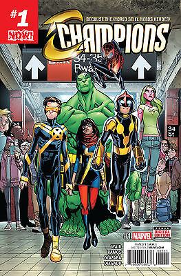 Champions #1 (First Print / Marvel Now / Ms. Marvel / Kamala Khan / 2016 / NM)
