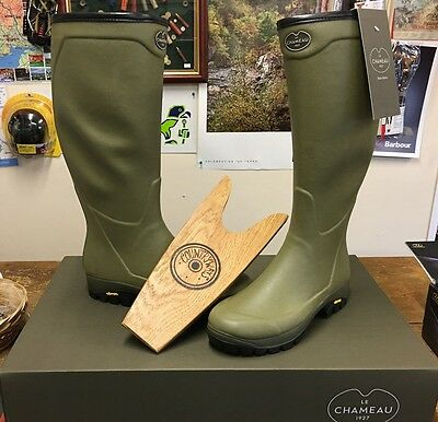 Le Chameau Country Vibram Wellingtons With Free Boot Jack