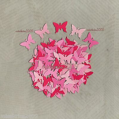 Butterfly Punchies x100 ~ Shades of Pink ~ Scrapbooking/Cardmaking