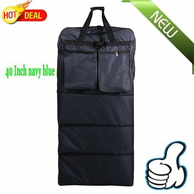 """40""""  navy blue Rolling Wheeled Duffel Bag Expandable Spinner Suitcase Luggage OY"""