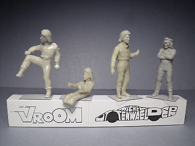 4  Figurines  1/43  Set 371  Francois  Cevert  Vroom  For  Tyrrell  Matra  Spark