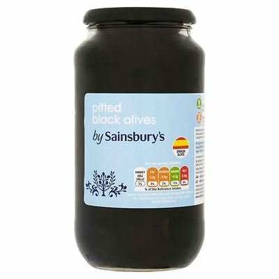 Sainsbury's Pitted Black Olives 907g