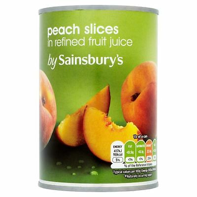 Sainsbury's Peach Slices In Fruit Juice 411g