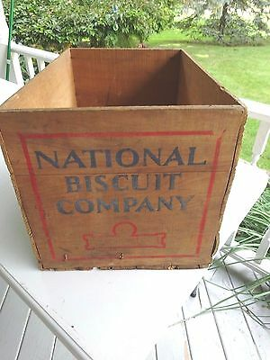 Vintage Large National Biscuit Company Wood Crate