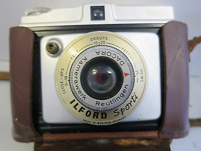 Vintage Ilford Sporti camera, West Germany with leather case-GR