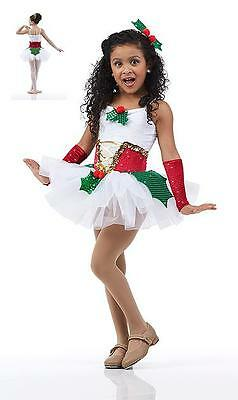 Adult 2XL PLUS SIZE Dance Tutu Costume Holly Berries Ballet Christmas