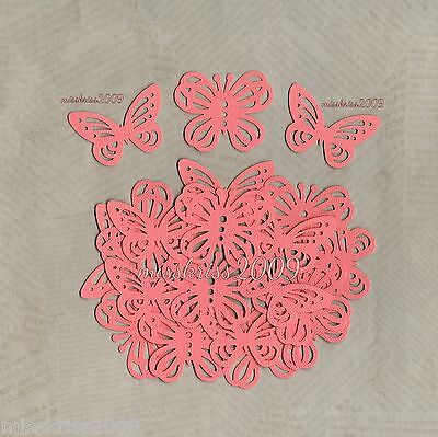 x20 Peach Butterfly Punchies ~ 2 Designs ~ Scrapbooking/Cardmaking