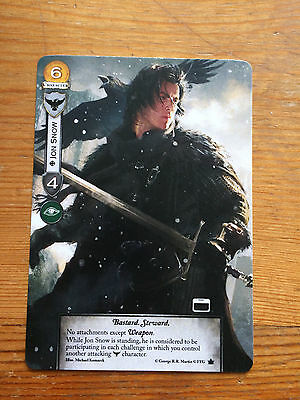 AGOT 2.0 Jon Snow full bleed GenCon exclusive promo FFG A Game of Thrones