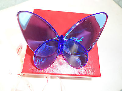 Baccarat Crystal Sapphire Butterfly New
