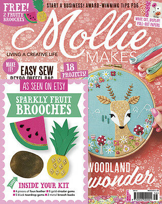 Mollie Makes Magazine Issue 56 With Free Gift (new)