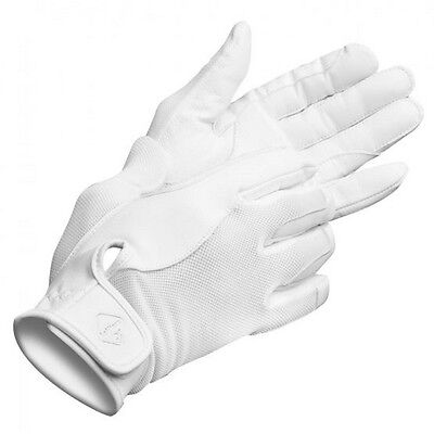 LEMIEUX PRO TOUCH PERFORMANCE RIDING GLOVES WHITE goat leather silicone grip