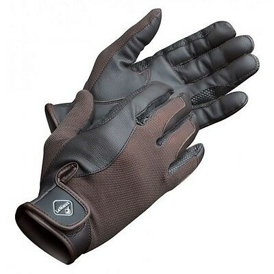 LEMIEUX PRO TOUCH PERFORMANCE RIDING GLOVES BROWN goat leather silicone grip