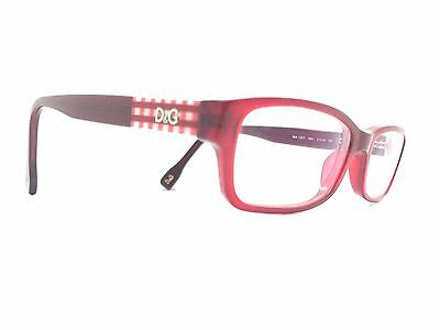 DOLCE & GABBANA D&G Translucent Red Used Glasses Eyeglasses Eyeglass Frame