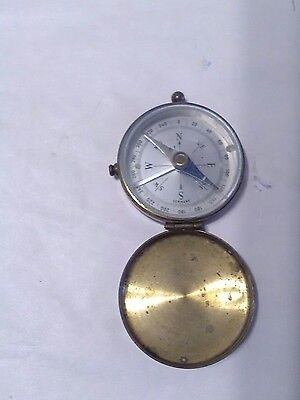 Brass Pocket Compass With Stop Lever