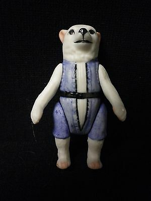 """21/2"""" Artist Made All Bisque Jointed Dog Doll"""