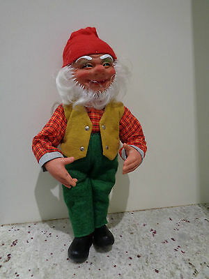 "Vintage Arne Hasle Norway Latex Gnome Troll Figure Doll 14"" Tall"