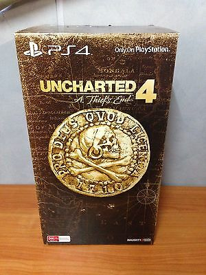 PS4 Uncharted 4 A Thiefs End Nathan Drake Statue -Box & Artbook