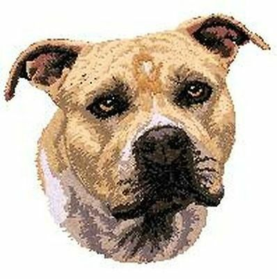 "Staffordshire Bull Terrier, Pitbull, Dog  Embroidered Patch 2.9""tall"