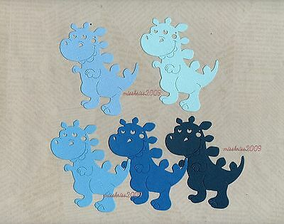 x10 Dinosaur Die Cuts ~ Shades of Blue ~ Monthly Special ~ Scrapbooking