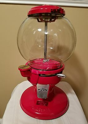 Rare Vintage Carousel Bubble Gum Machine Metal & Glass