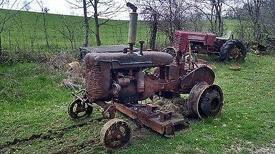 IH Farmall Model A Tractor with woods mower