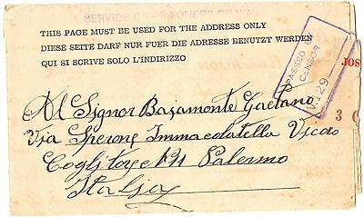 POW Australia - 1942 MURCHISON - Early notelope form of 5/1941 RARE - See inside