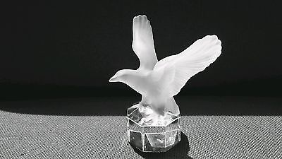 Stunning Goebel Germany Crystal Glass American Bald Eagle Paperweight ~ Perfect