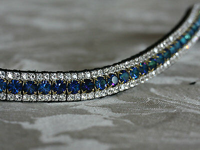 Equiture Bermuda Blue And Clear Curve Browband