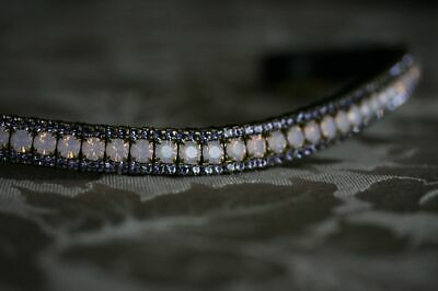 Equiture Rose Opal and Tanzanite Curve Browband