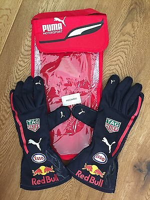 2017 used & signed pair of Red Bull gloves from Daniel Ricciardo