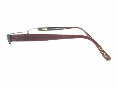 BURBERRY Semi-Rimless Brown Used Glasses Eyeglasses Eyeglass Frame