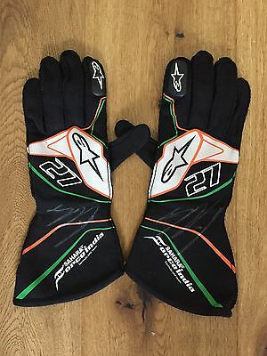 2016 used & signed pair of Force India gloves from Nico Hulkenberg