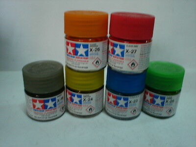 Tamiya Acrylic Paint - Set D - 6 Colori
