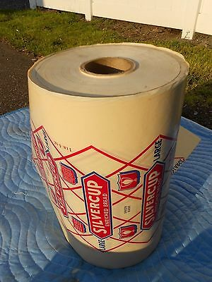 Vintage Silvercup Enriched Bread Wax Wrapper Bag HUGE Spool RARE ADVERTISING