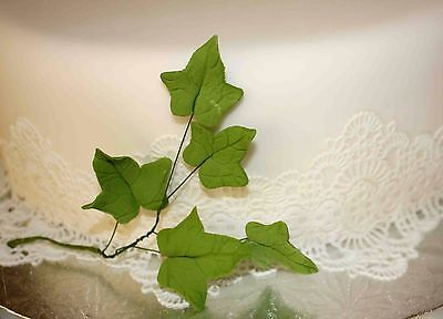 IVY Leaf Spray, Sugar Flowers, Cake Topper, Gum, Sugar Paste Leaves, Christmas