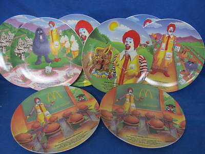 Lot Of 8 Collectible McDonald's Plates - 89, 93 & 97