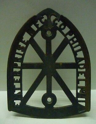 Antique Enterprise Mfg Co Philadelphia Cast Iron Trivet Iron Rest Fine Casting