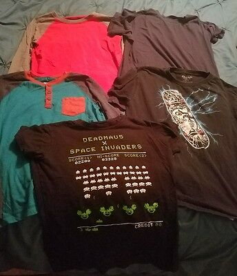Boys SHIRTS Size 14 / 16 TOPS Lot TSHIRT T-Shirt XL Long SLEEVE Short