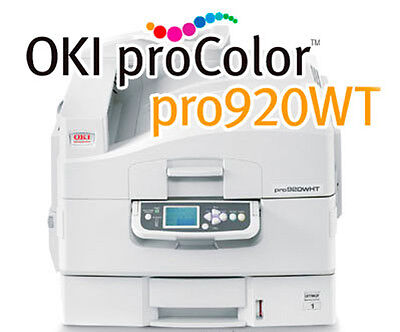 Okidata Pro 920WT  White Toner Printer With 1 Year On Site Warranty 62438901