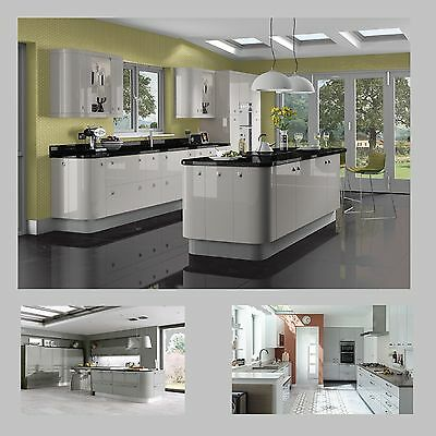 New Complete Kitchen Package Not Ex-Display :hi Gloss Grey Kashmir Doors & Units