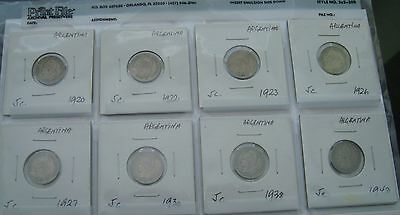Argentina 5 Centavos 19 coins lot 1920-1955 South America Collection G/F
