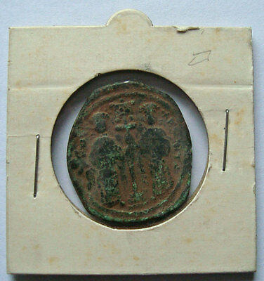 BYZANTINE COIN 1059 AD Constantine X & Eudocia Ancient Medieval Christ