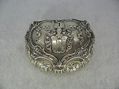 Quality Solid Silver Table Snuff Trinket Box