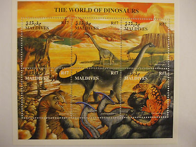 The World of Dinosaurs 6 Stamp Sheet