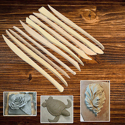 10 Pcs  Clay Tool Set of 10 - Shaping Clay Sculpture Modeling Carving Kit